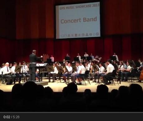 2013 GPS Concert Band at the Queensland Conservatorium